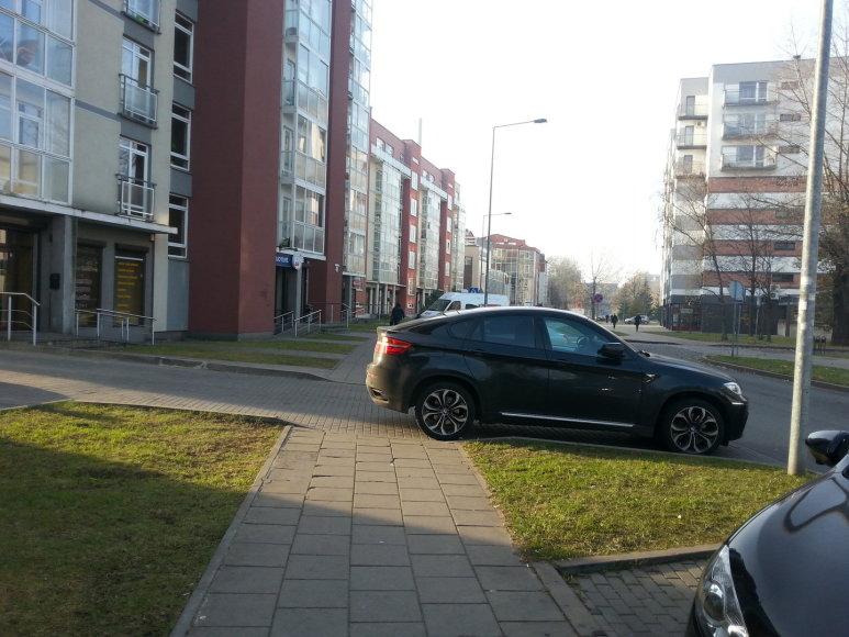 Dainininkės Mios automobilis pastatytas ne pagal taisykles