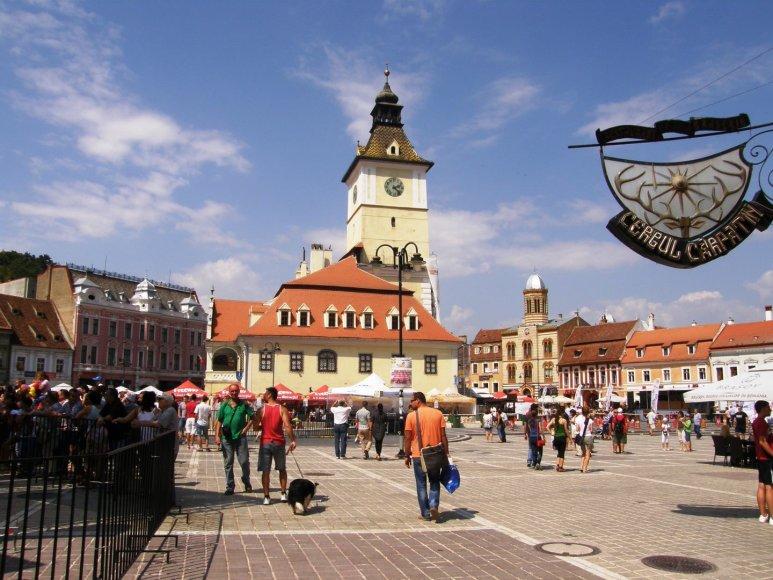 Transilvanijos miestas Brašovas