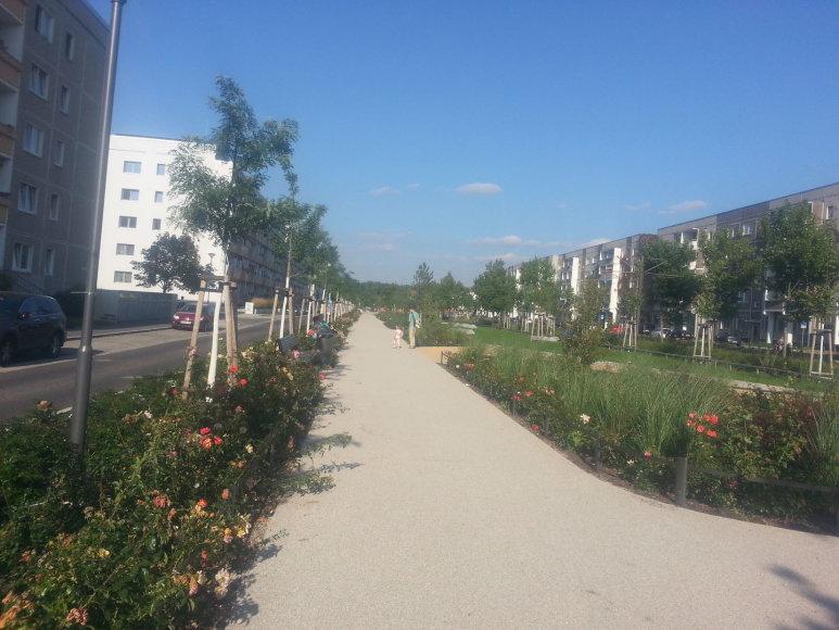 Renovuotas kvartalas Vokietijoje
