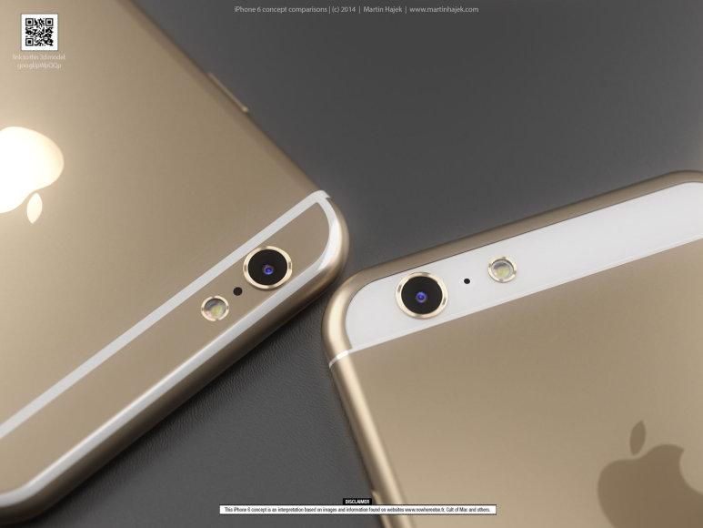 Marino Hajecko iPhone 6 konceptų palyginimas
