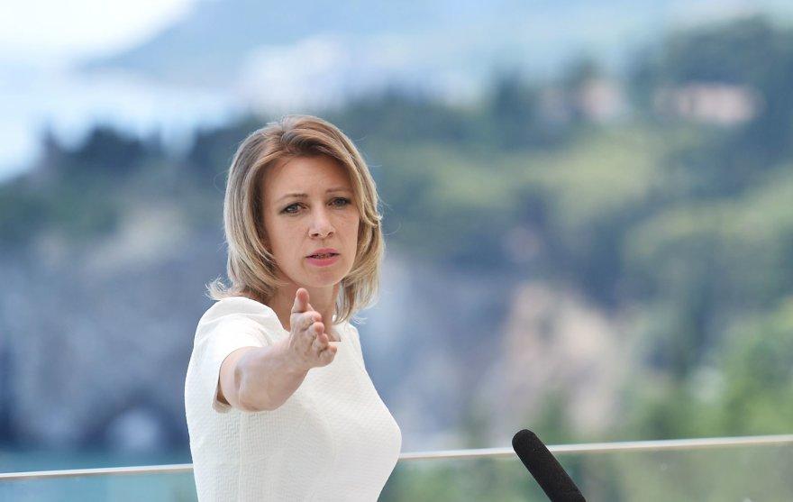 Rusijos užsienio reikalų ministerijos atstovė Marija Zacharova