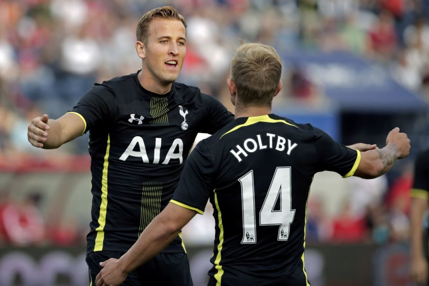 Harry Kane'as ir Lewisas Holtby