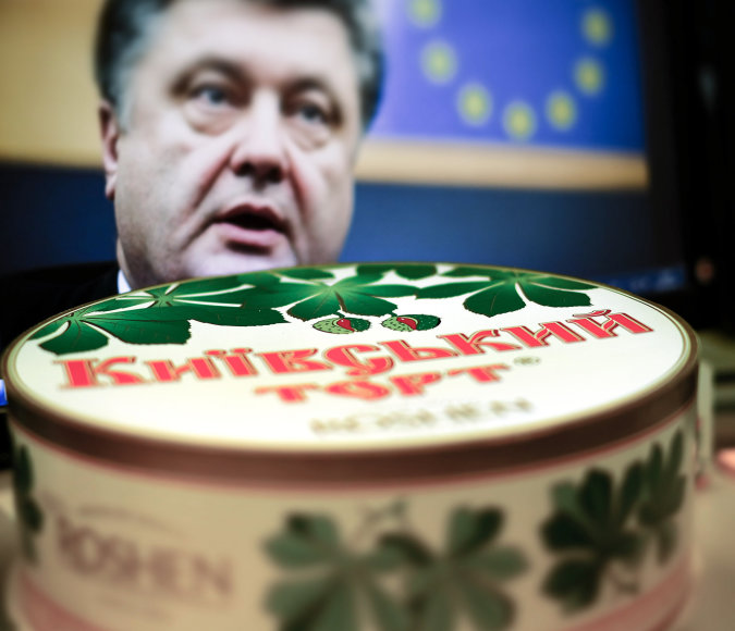 Petro Porošenkos įmonės gaminami saldainiai