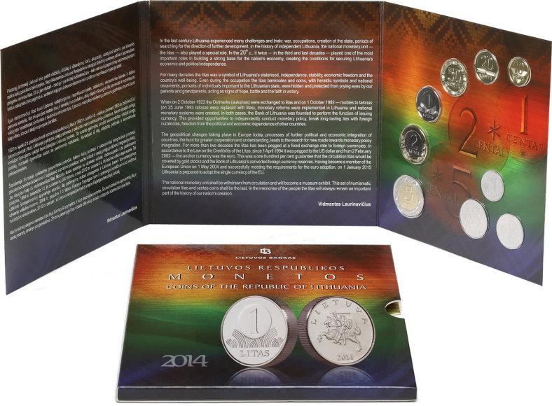 Numizmatinių apyvartinių monetų rinkinys