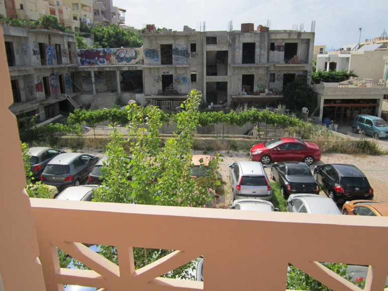 Vaizdas pro langą viešbutyje Kretoje