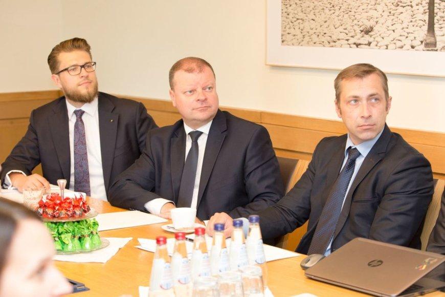 Premjeras S. Skvernelis susitiko su Panevėžio miesto savivaldybės atstovais