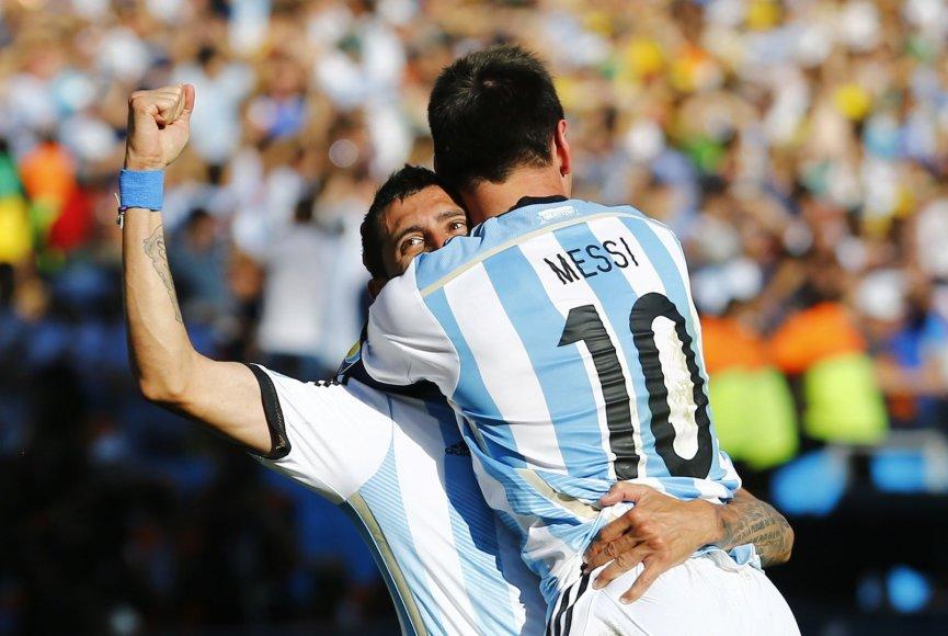 Angelis di Maria ir Lionelis Messi