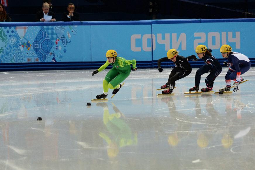 Greitojo čiuožimo trumpuoju taku atstovė Agnė Sereikaitė