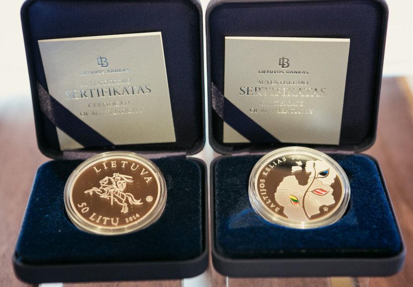 Proginės 25 ir 50 litų monetos