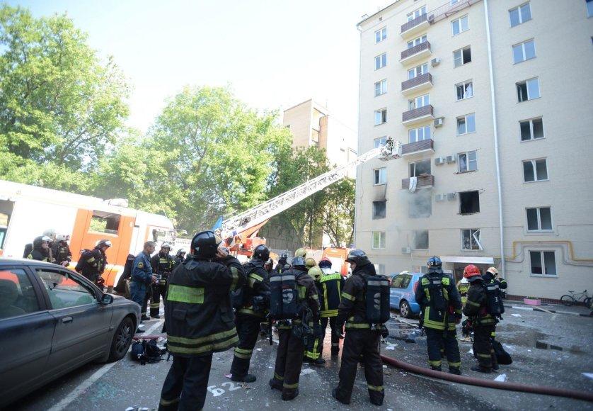 Maskvoje devynaukštį sudrebino dujų sprogimas