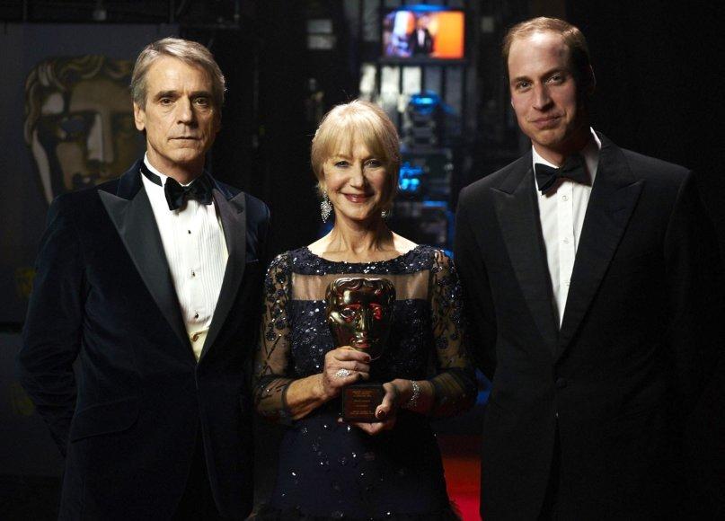 Jeremy Ironsas, Helen Mirren ir princas Williamas