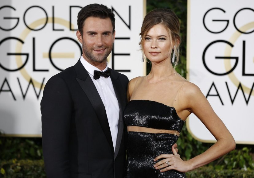 """Reuters""/""Scanpix"" nuotr./Adamas Levine'as ir Behati Prinsloo"