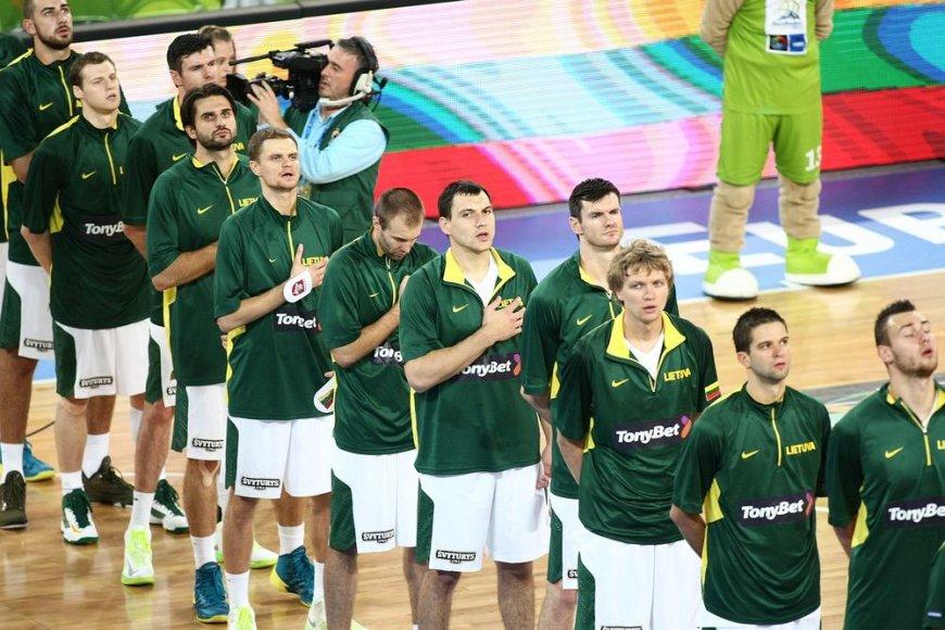 Lietuvos krepšinio rinktinė prieš rungtynes su Kroatija