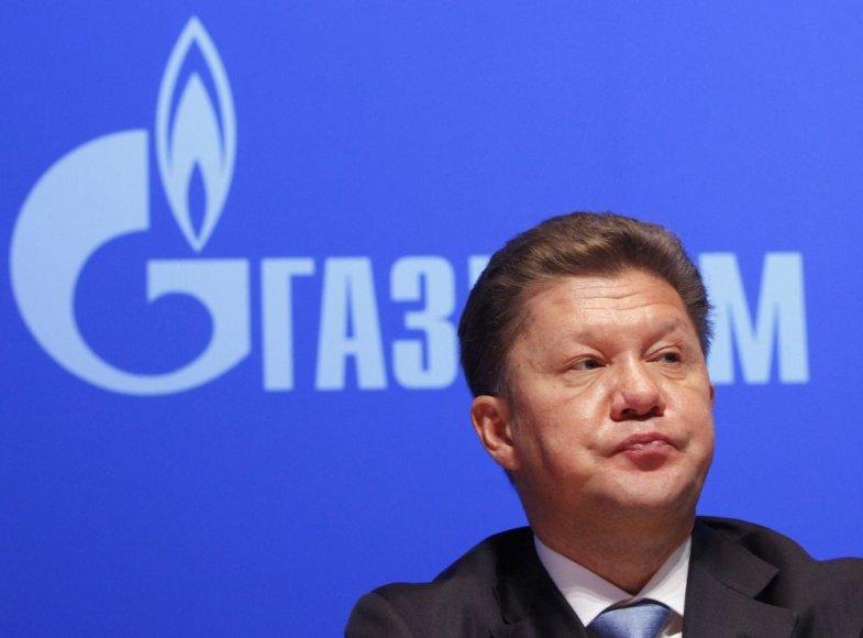"""""""Gazprom"""" vadovas Aleksejus Milleris"""