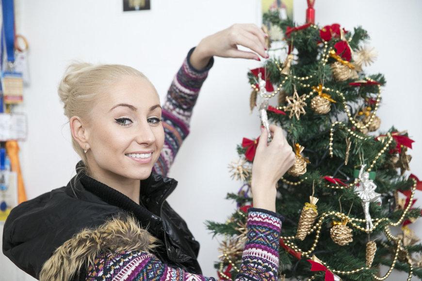Kalėdinės puošmenos Kristinos Tarasevičiūtės namuose