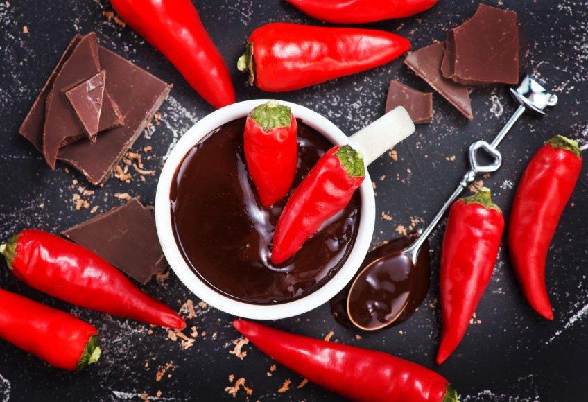 Karštas šokoladas su čili pipirais