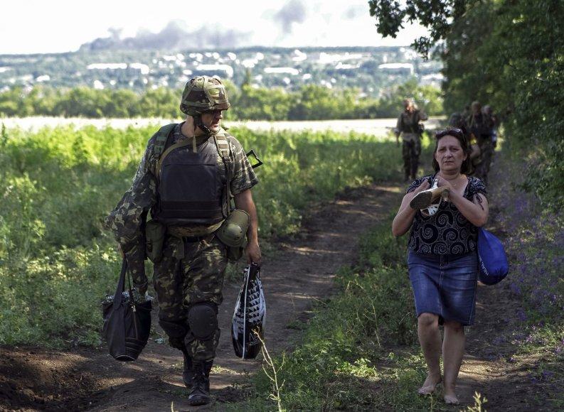 Ukrainos kariai prie Luhansko
