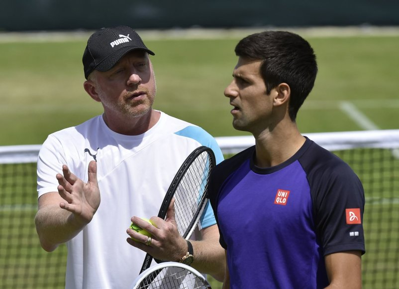 Borisas Beckeris ir Novakas Džokovičius