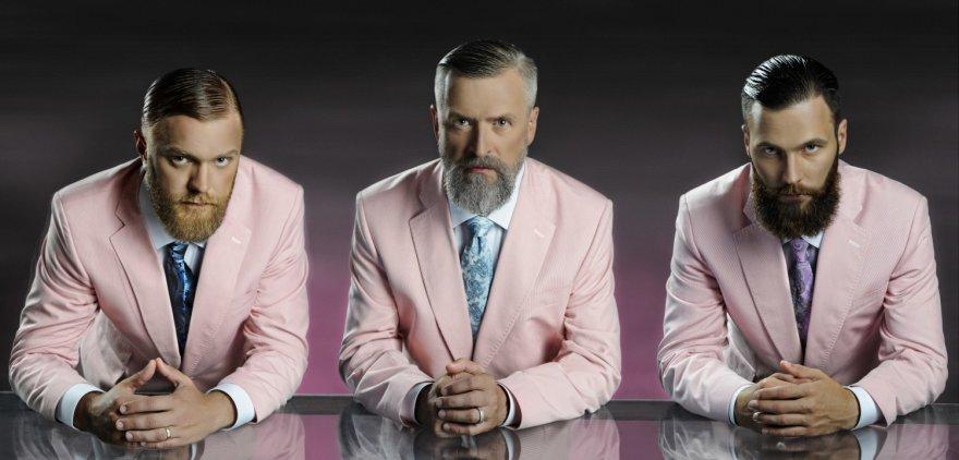 """Projekto """"Cut Code"""" fotosesija """"Boy Beard"""": Mantas Kubilius, Stasys Baltakis ir Mantas Lesauskas"""