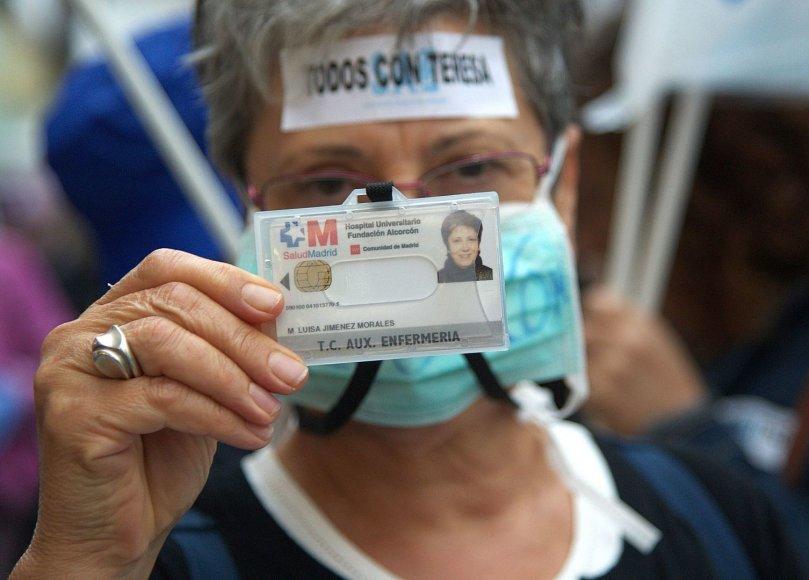 Užsikrėtusios Ebolos virusu slaugės Teresos Romero palaikymo akcija