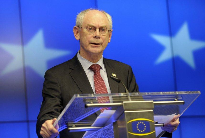Europos Vadovų Tarybos pirmininkas Hermanas Van Rompuy