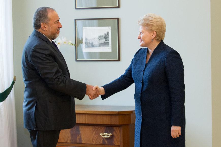 Prezidentės susitikimas su Izraelio užsienio reikalų ministru