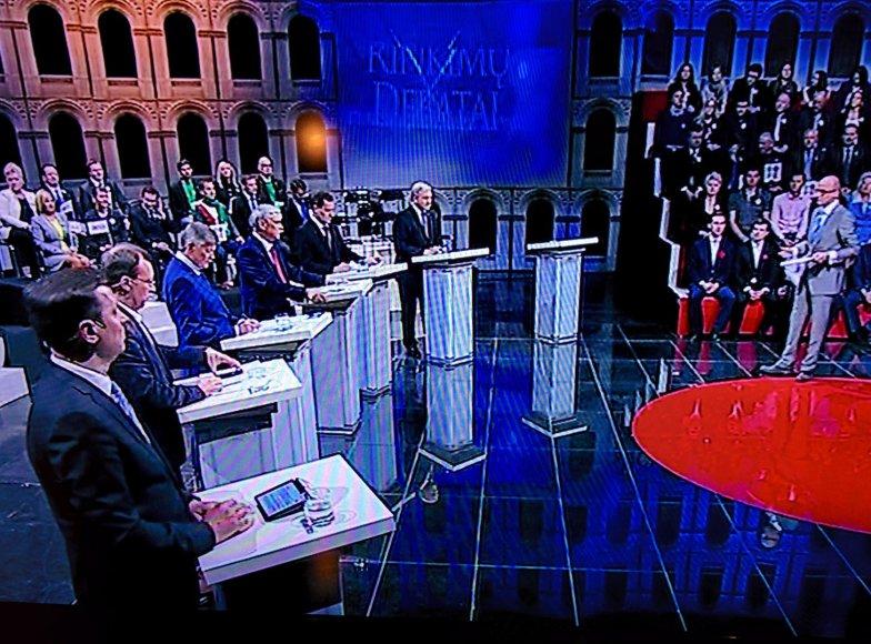 Antrieji kandidatų į prezidentus debatai