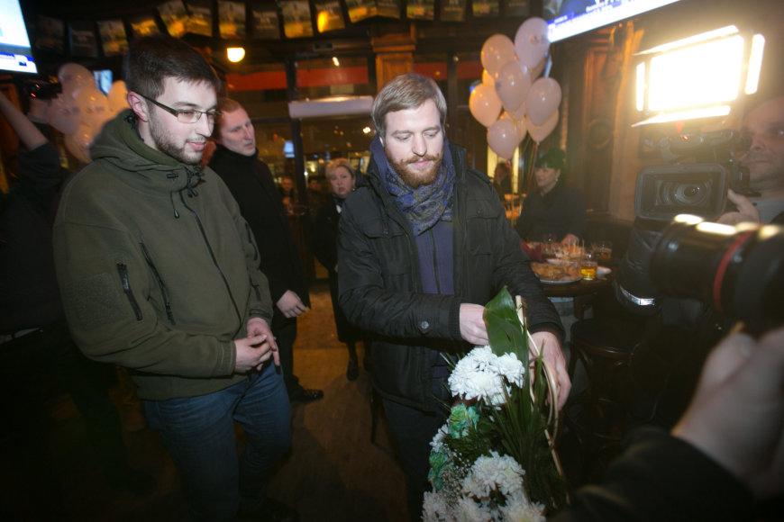 Adomas Bužinskas (kairė) ir Mykolas Pleskas