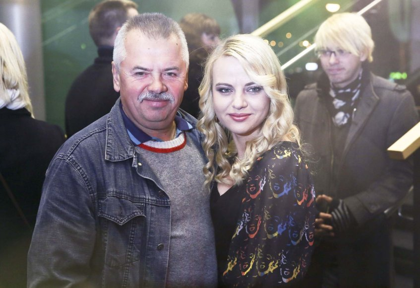 Renata Jampolskė su tėčiu Viktoru