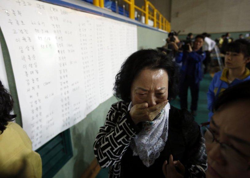 Moters reakcija sužinojus, kad jos sūnus išsigelbėjo.