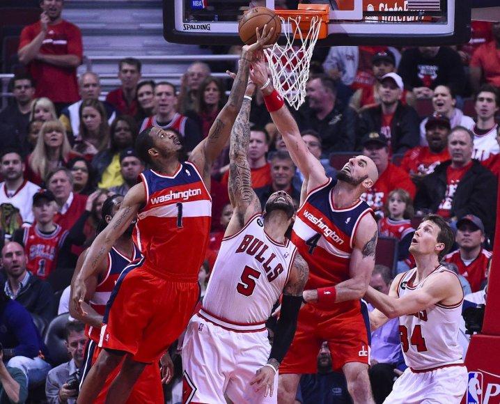 """""""Wizards"""" sudorojo """"Bulls"""" serijoje 4-1"""