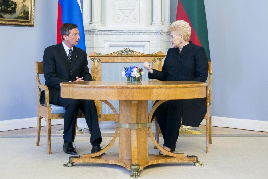 Prezidentė Dalia Grybauskaitė susitiko su Slovėnijos prezidentu Borutu Pahoru