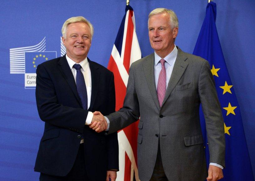 D.Davisas ir M.Barnier