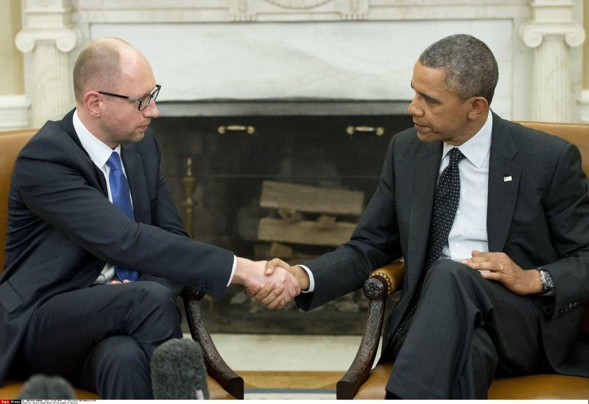 Arsenijus Jaceniukas ir Barackas Obama