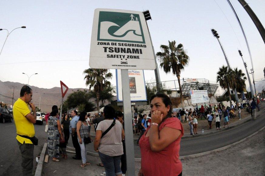 Čilėje į saugią zoną evakuoti žmonės