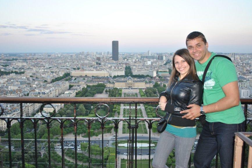 Antanas ir Sandra Paryžiuje