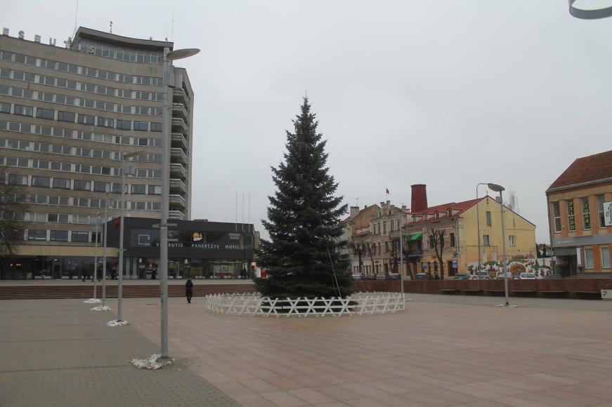 Kalėdų eglė Panevėžyje