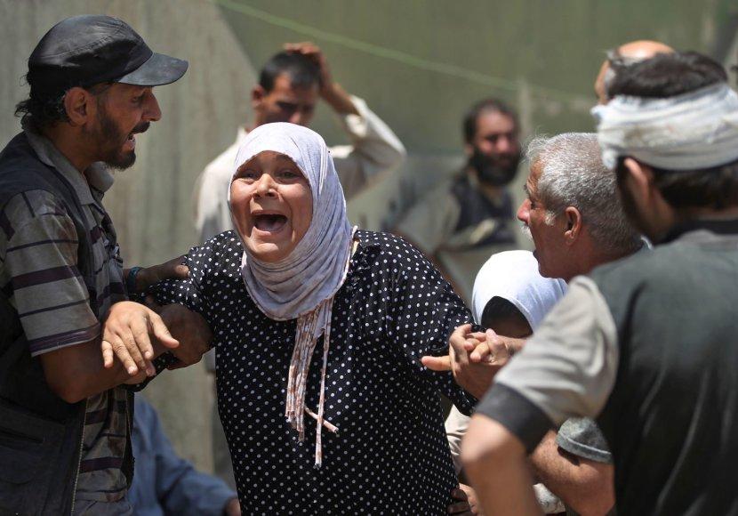 Mosule įvykdytos atakos liudininkė