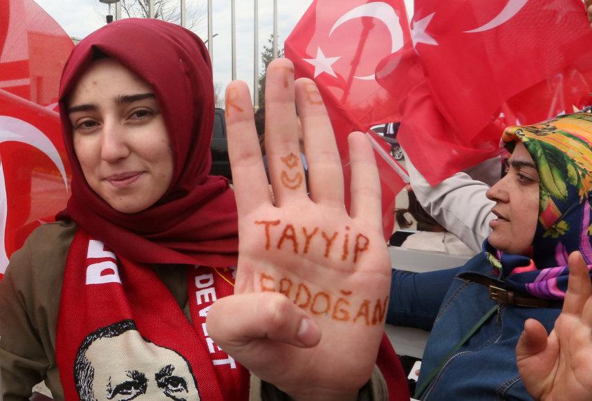 Recepo Tayyipo Erdogano rėmėjai