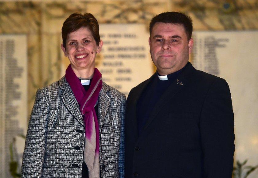 Vyskupė Libby Lane su vyru George Lane