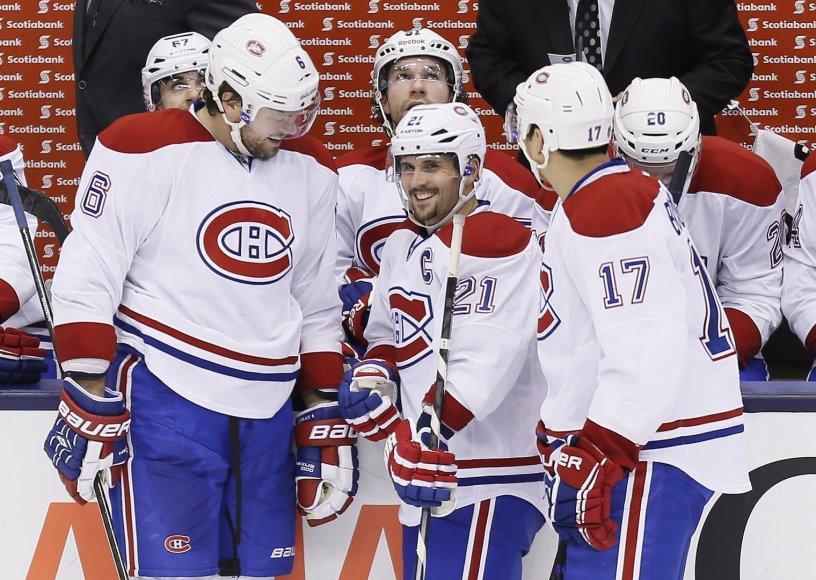 """""""Canadiens"""" ledo ritulininkai džiaugėsi pergale"""