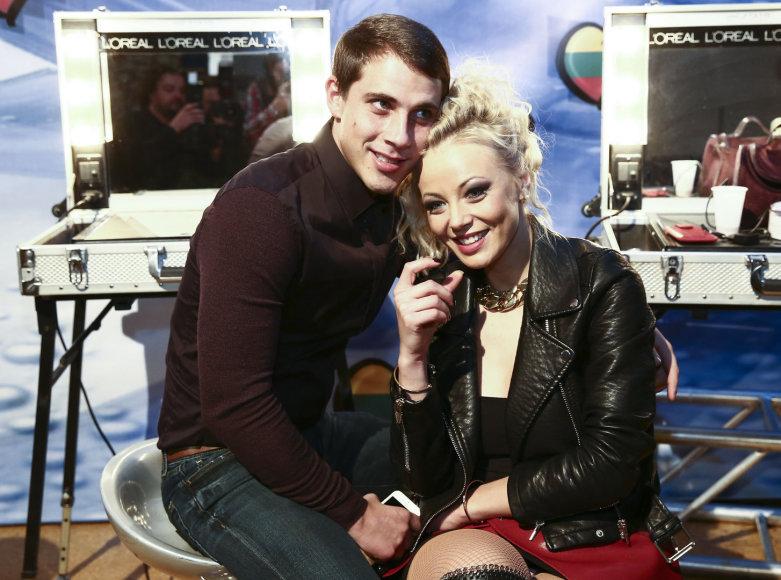 Vilija Pilibaitytė-Mia su vyru Nerijumi