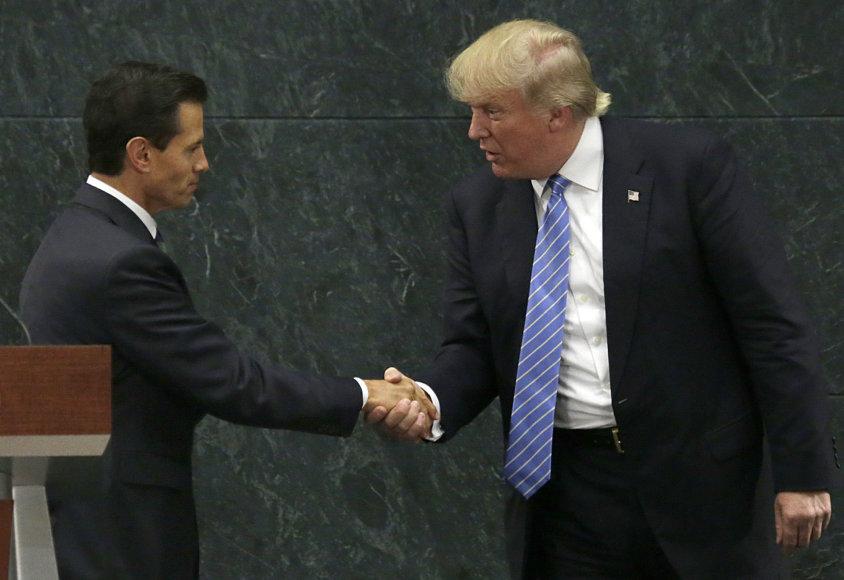 Enrique Pena Nieto ir Donaldas Trumpas