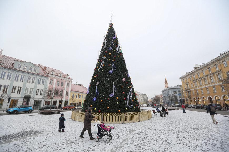 Kalėdinė eglė Rotušės aikštėje