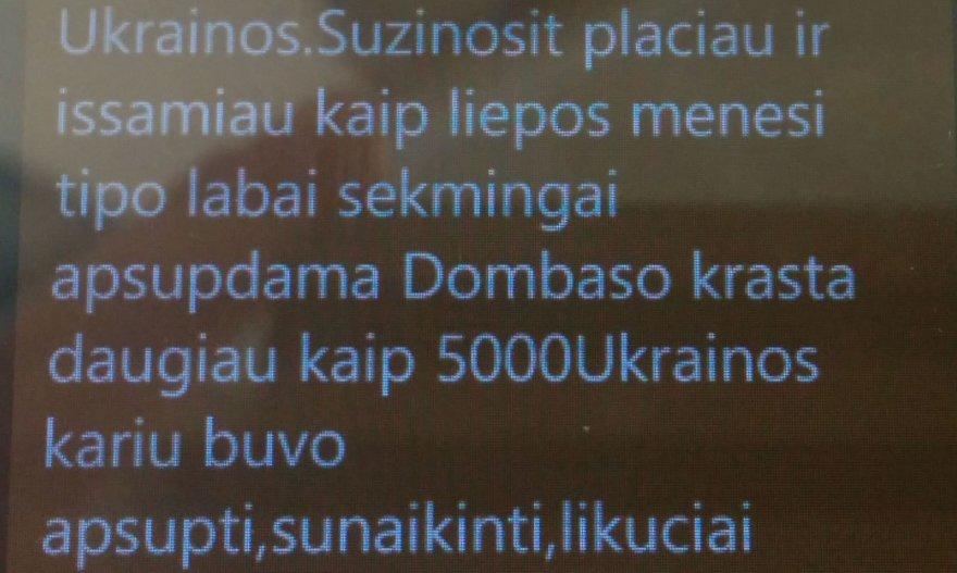 SMS žinutė