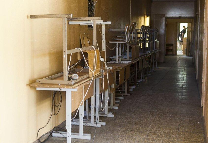 Remontuojama Senvagės gimnazija