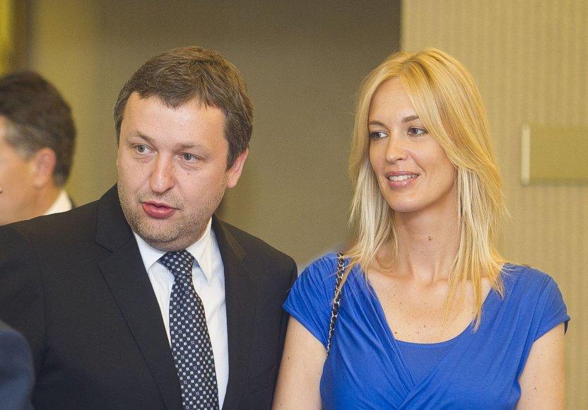 Antanas Guoga ir Aistė Šlapokaitė