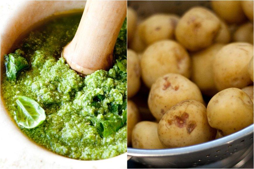 Naminis pesto padažas ir šviežios bulvytės