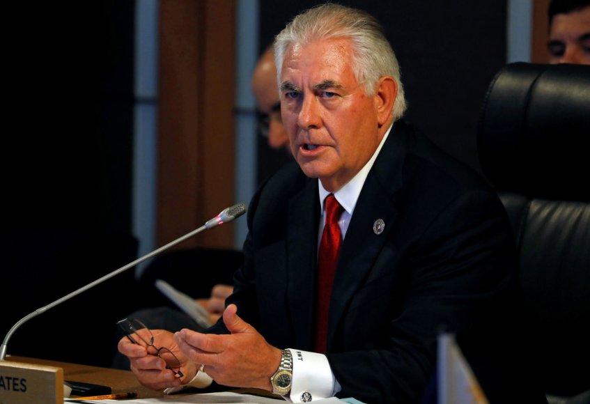 JAV valstybės sekretorius Rexas Tillersonas Maniloje