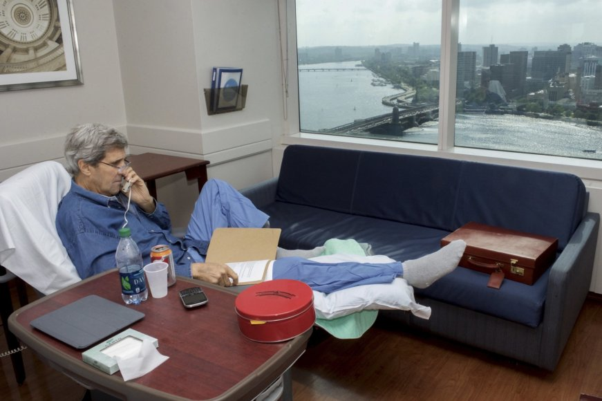 J. Kerry su sulaužyta koja